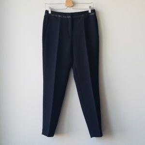 Sandro Black Satin Dress Work Trouser Pants Sz 28